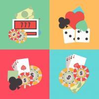 illustration jeux de casino cartes jetons dés machine à sous